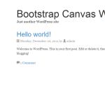 Bootstrap Canvas