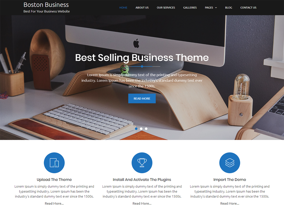 Boston Business Preview Wordpress Theme - Rating, Reviews, Preview, Demo & Download