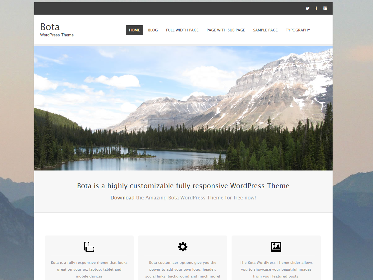 Bota Preview Wordpress Theme - Rating, Reviews, Preview, Demo & Download