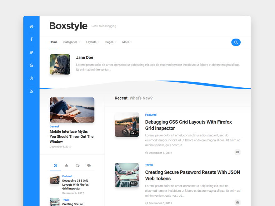 Boxstyle Preview Wordpress Theme - Rating, Reviews, Preview, Demo & Download