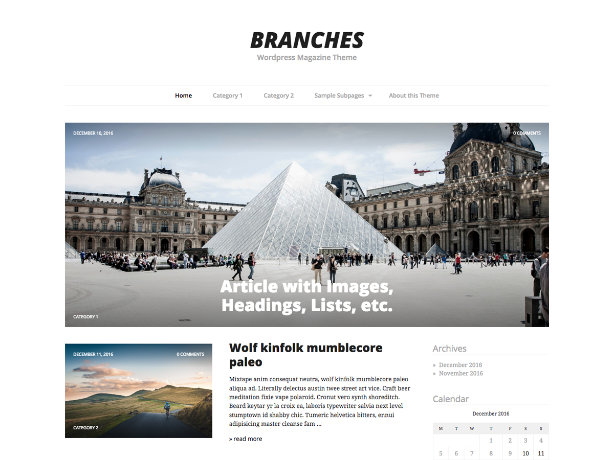 Branches Preview Wordpress Theme - Rating, Reviews, Preview, Demo & Download