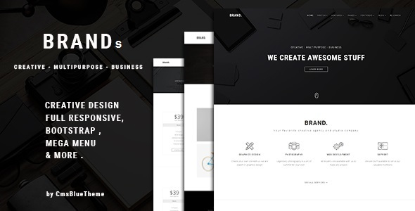 Brands Preview Wordpress Theme - Rating, Reviews, Preview, Demo & Download