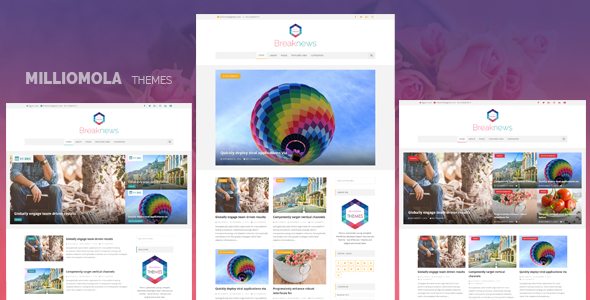 Breaknews Preview Wordpress Theme - Rating, Reviews, Preview, Demo & Download