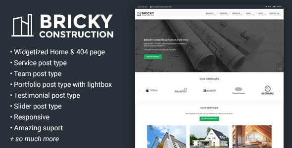 Bricky Preview Wordpress Theme - Rating, Reviews, Preview, Demo & Download