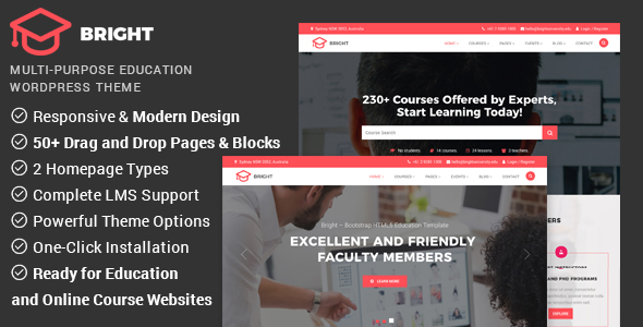 Bright Preview Wordpress Theme - Rating, Reviews, Preview, Demo & Download