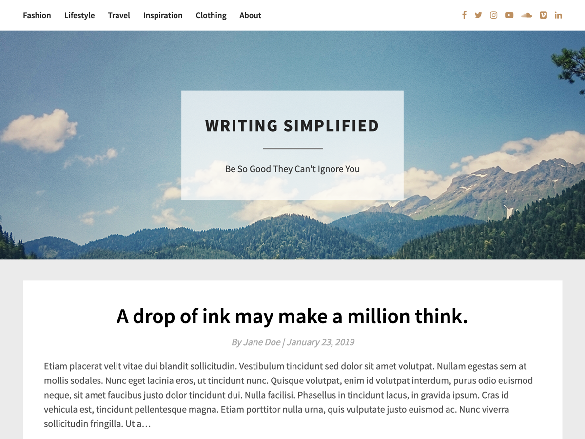 Bright Writing Preview Wordpress Theme - Rating, Reviews, Preview, Demo & Download