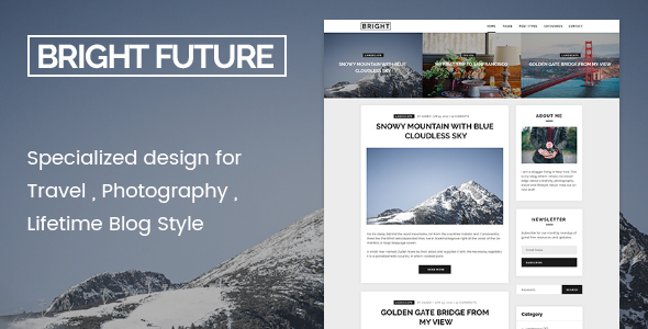 BrightFuture Preview Wordpress Theme - Rating, Reviews, Preview, Demo & Download