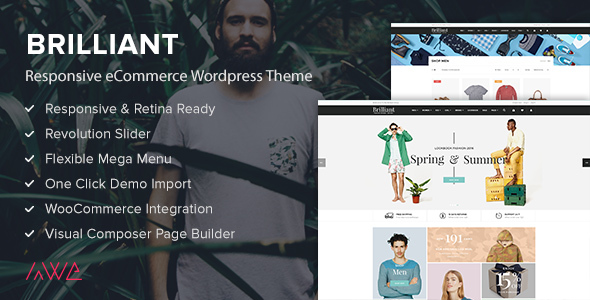 Brilliant Preview Wordpress Theme - Rating, Reviews, Preview, Demo & Download