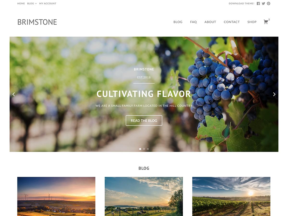 Brimstone Preview Wordpress Theme - Rating, Reviews, Preview, Demo & Download