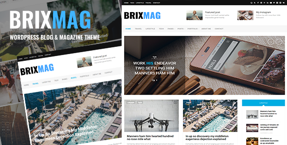 Brixmag Preview Wordpress Theme - Rating, Reviews, Preview, Demo & Download