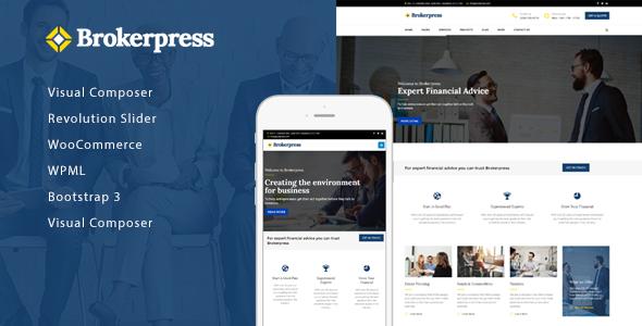 BrokerPress Preview Wordpress Theme - Rating, Reviews, Preview, Demo & Download
