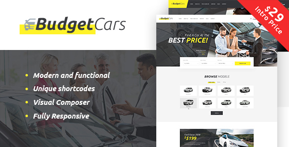 Budget Cars Preview Wordpress Theme - Rating, Reviews, Preview, Demo & Download
