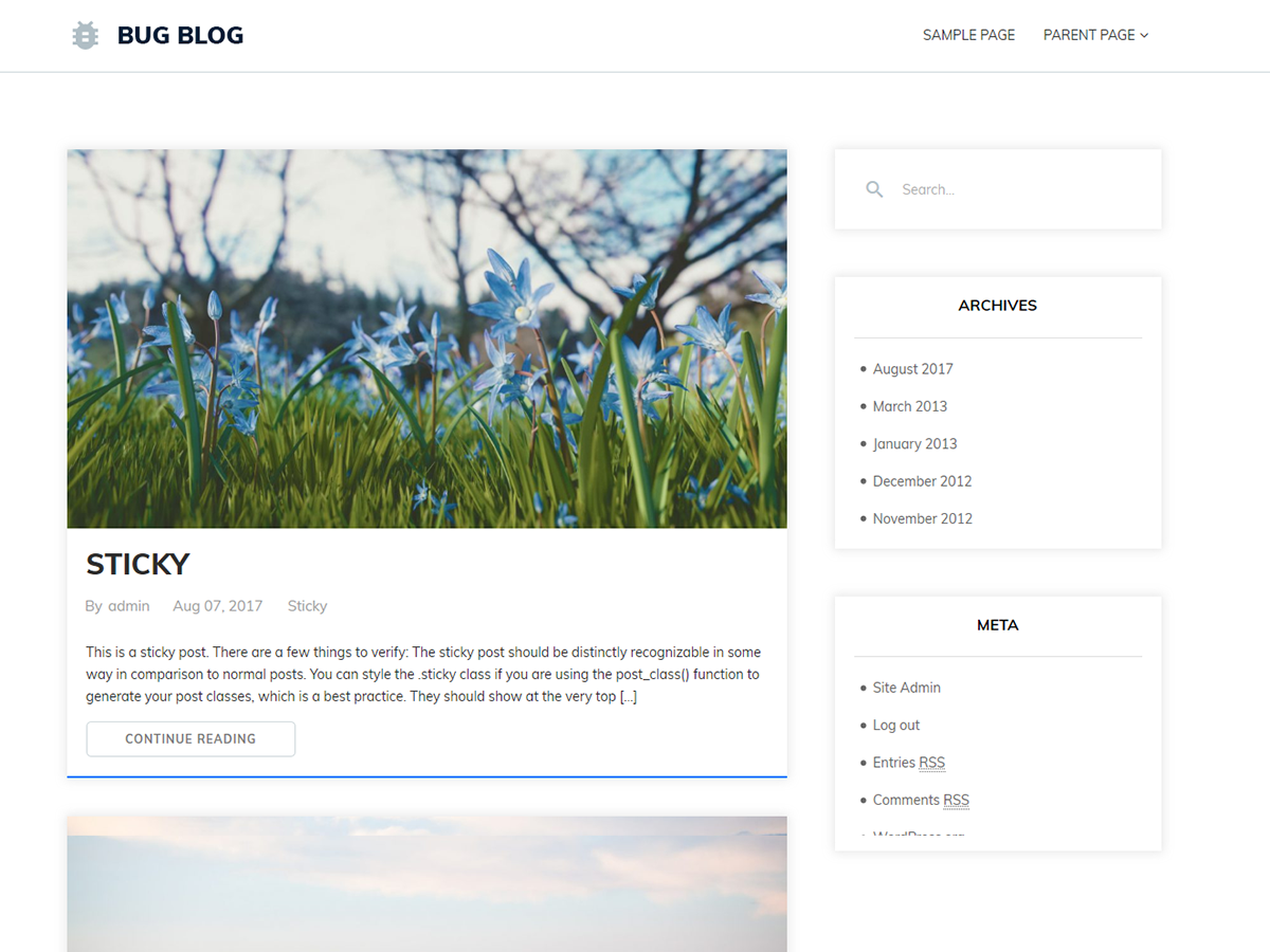 Bug Blog Preview Wordpress Theme - Rating, Reviews, Preview, Demo & Download