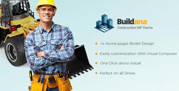 Buildana Preview Wordpress Theme - Rating, Reviews, Preview, Demo & Download