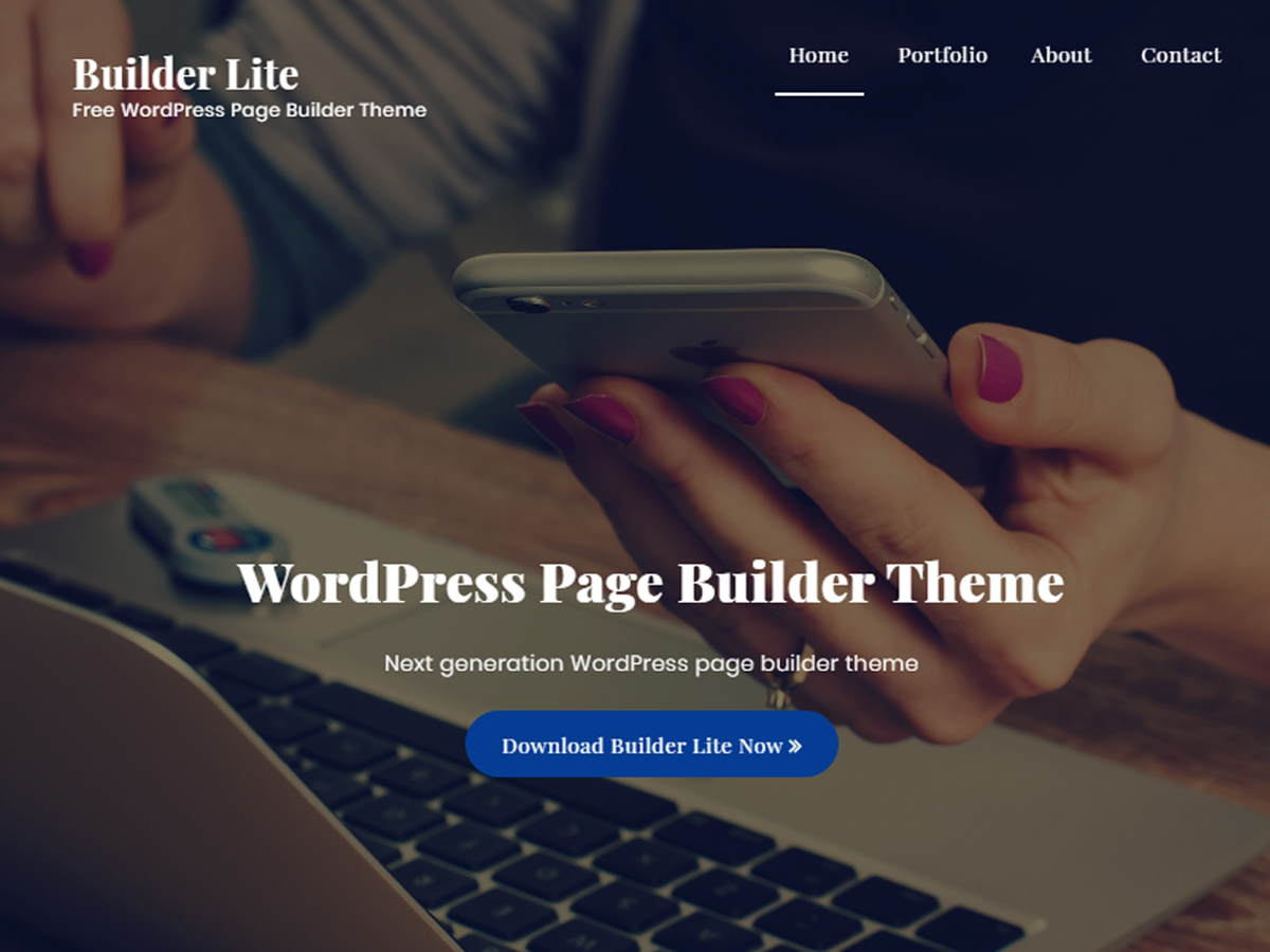 Builder Lite Preview Wordpress Theme - Rating, Reviews, Preview, Demo & Download