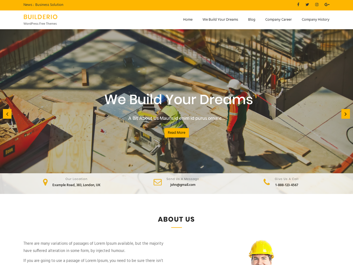 Builderio Preview Wordpress Theme - Rating, Reviews, Preview, Demo & Download