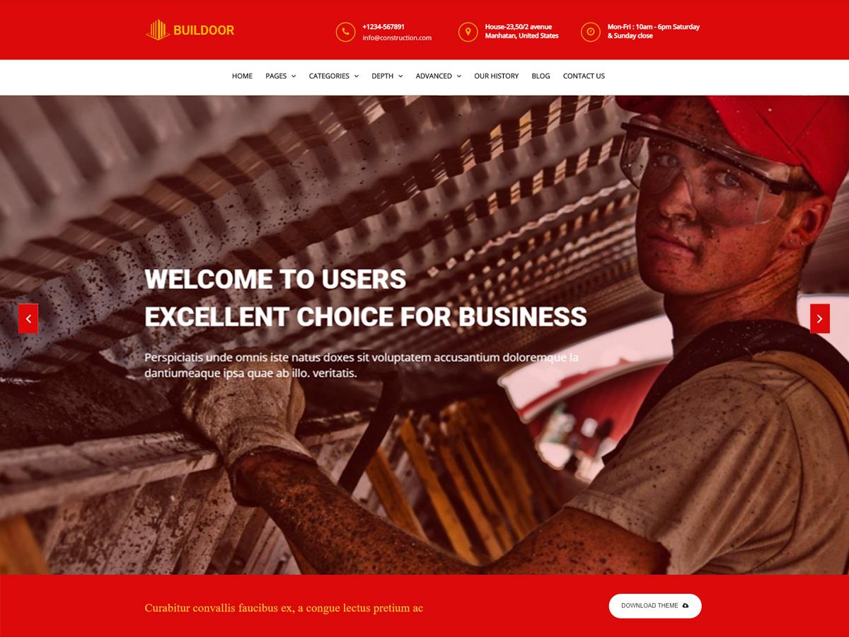 Buildoor Preview Wordpress Theme - Rating, Reviews, Preview, Demo & Download