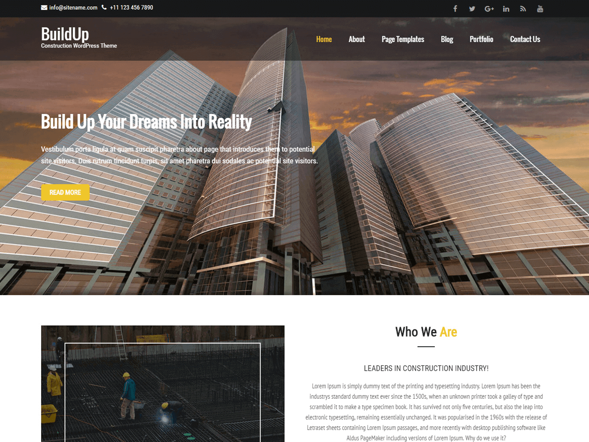Buildup Preview Wordpress Theme - Rating, Reviews, Preview, Demo & Download