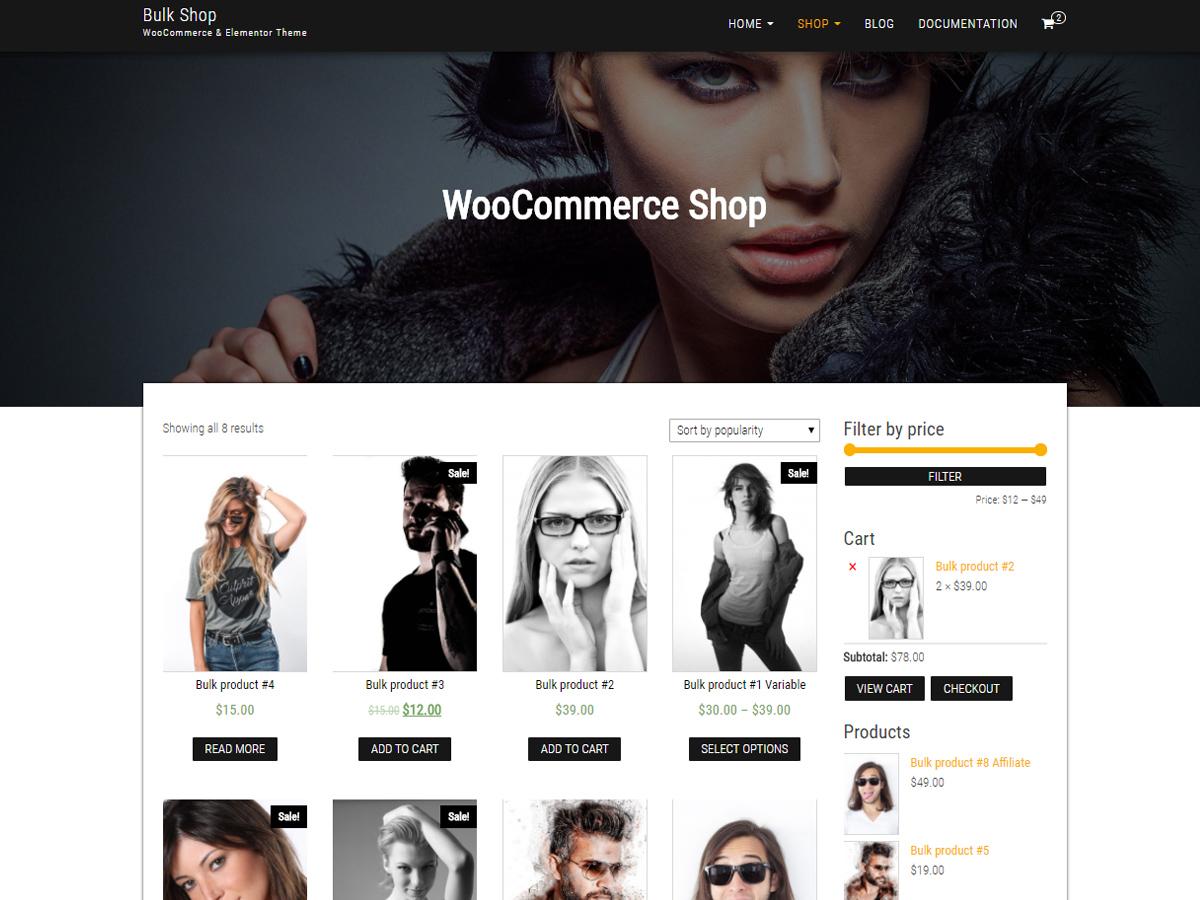 Bulk Shop Preview Wordpress Theme - Rating, Reviews, Preview, Demo & Download