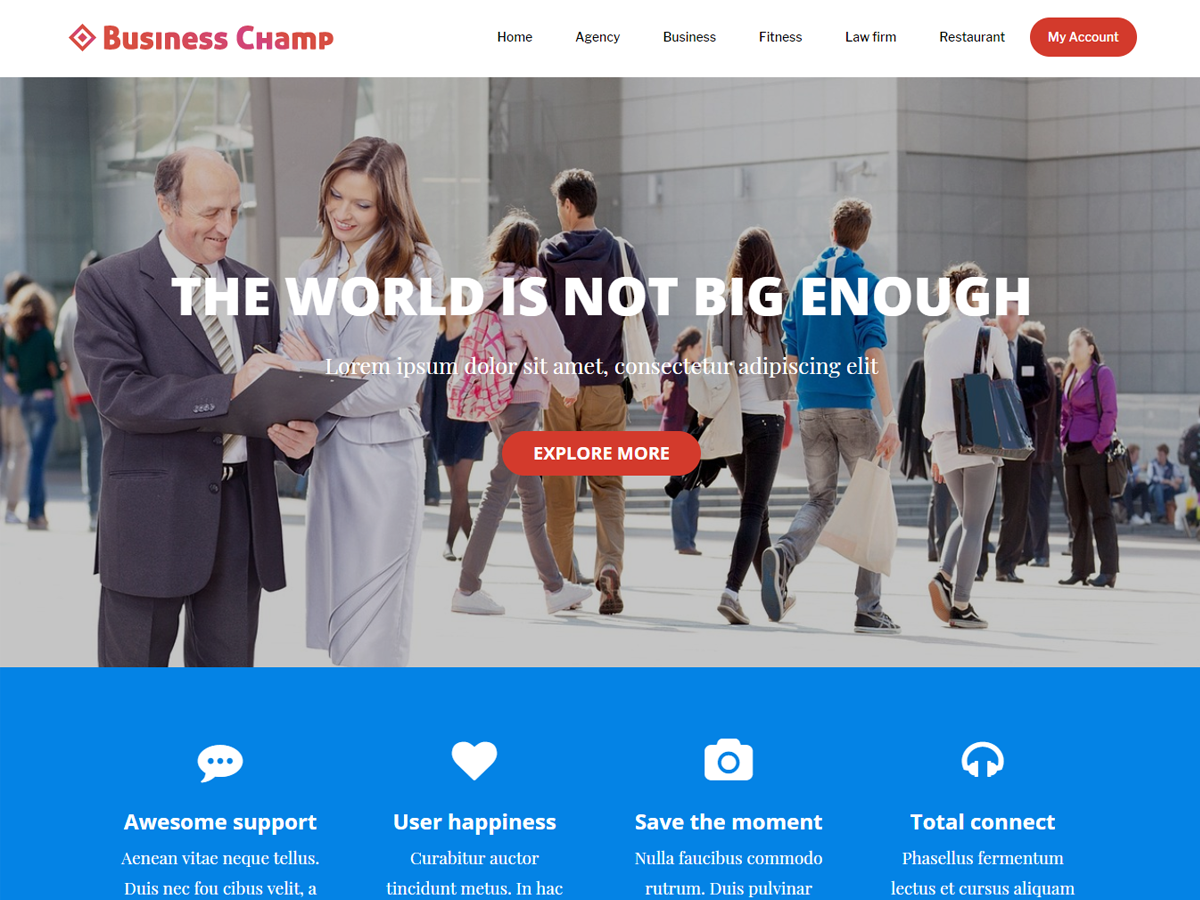 Business Champ Preview Wordpress Theme - Rating, Reviews, Preview, Demo & Download