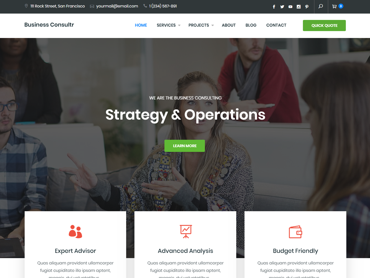 Business Consultr Preview Wordpress Theme - Rating, Reviews, Preview, Demo & Download