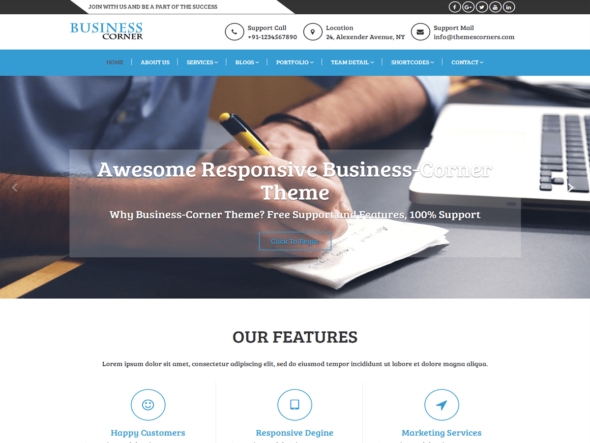 Business Corner Preview Wordpress Theme - Rating, Reviews, Preview, Demo & Download