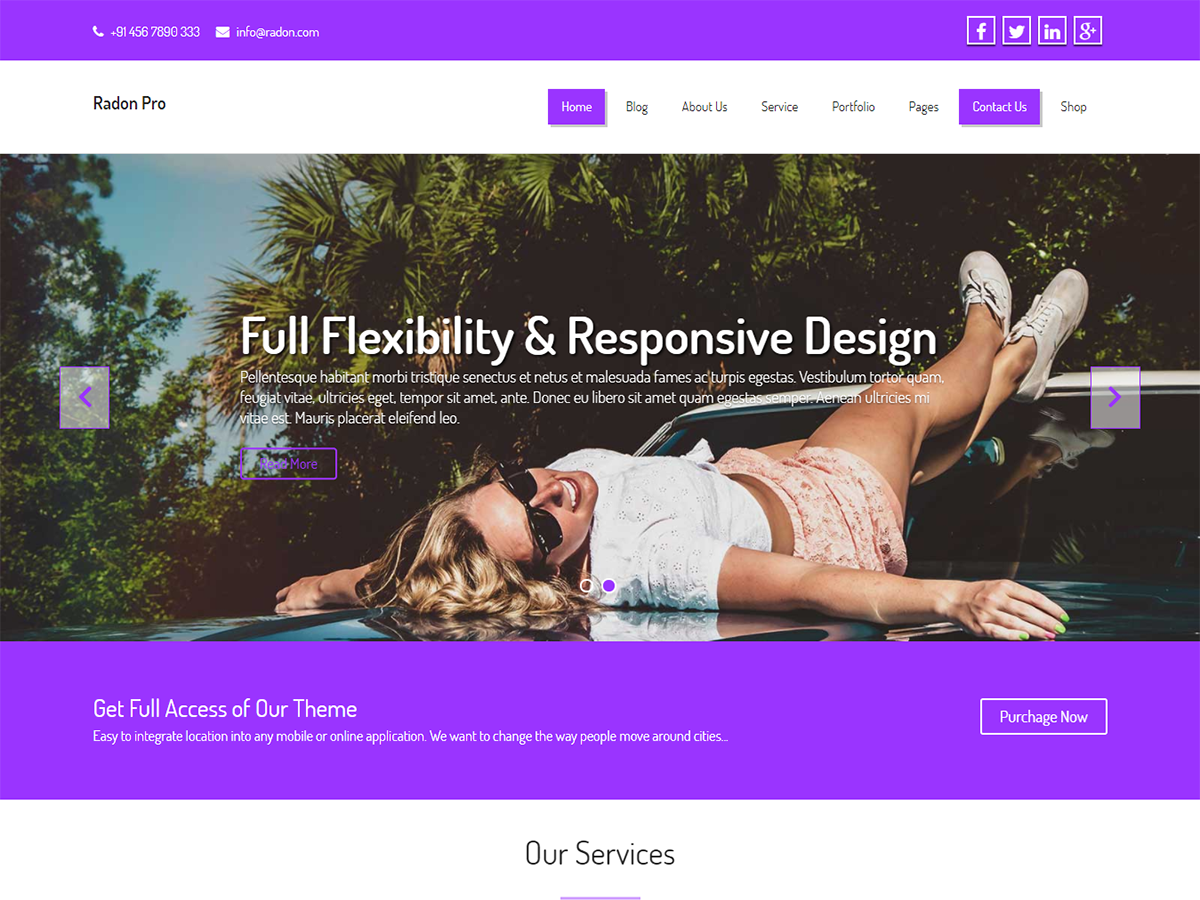 Business Eight Preview Wordpress Theme - Rating, Reviews, Preview, Demo & Download