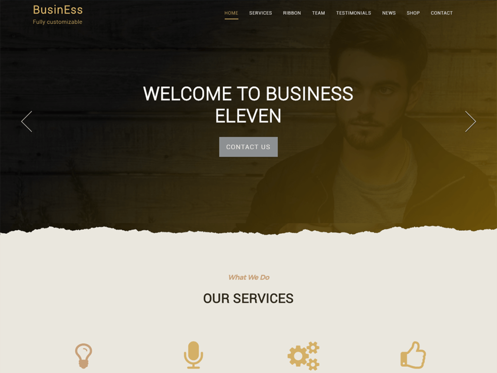Business Eleven Preview Wordpress Theme - Rating, Reviews, Preview, Demo & Download