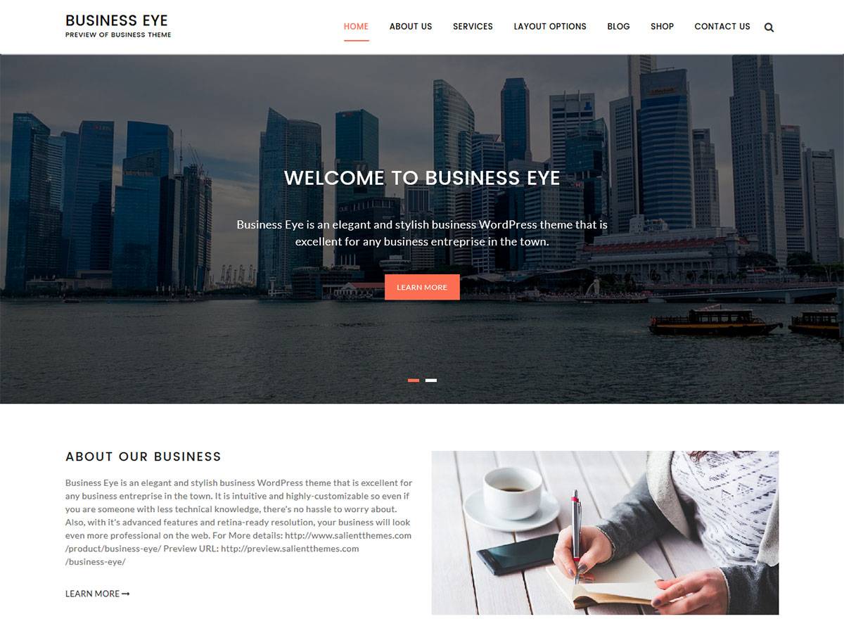 Business Eye Preview Wordpress Theme - Rating, Reviews, Preview, Demo & Download