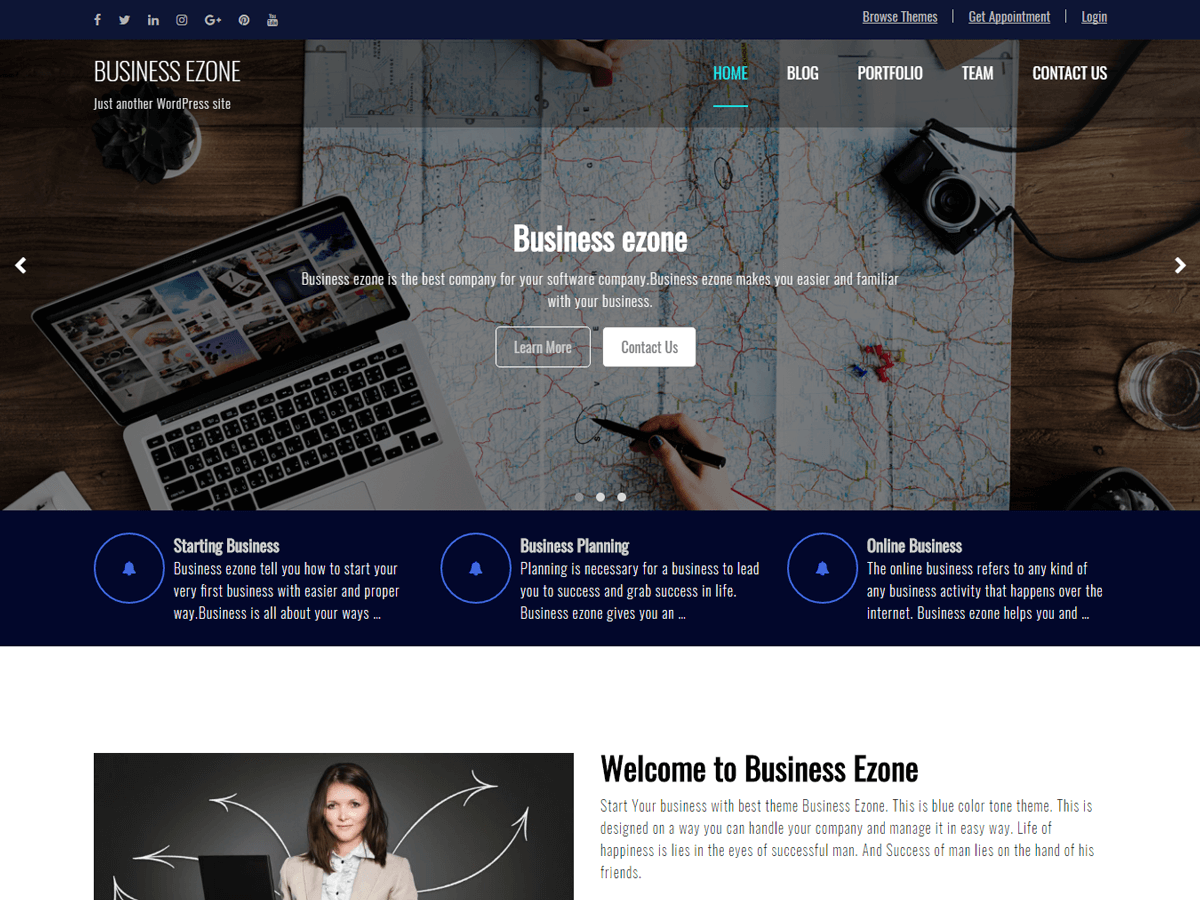 Business Ezone Preview Wordpress Theme - Rating, Reviews, Preview, Demo & Download