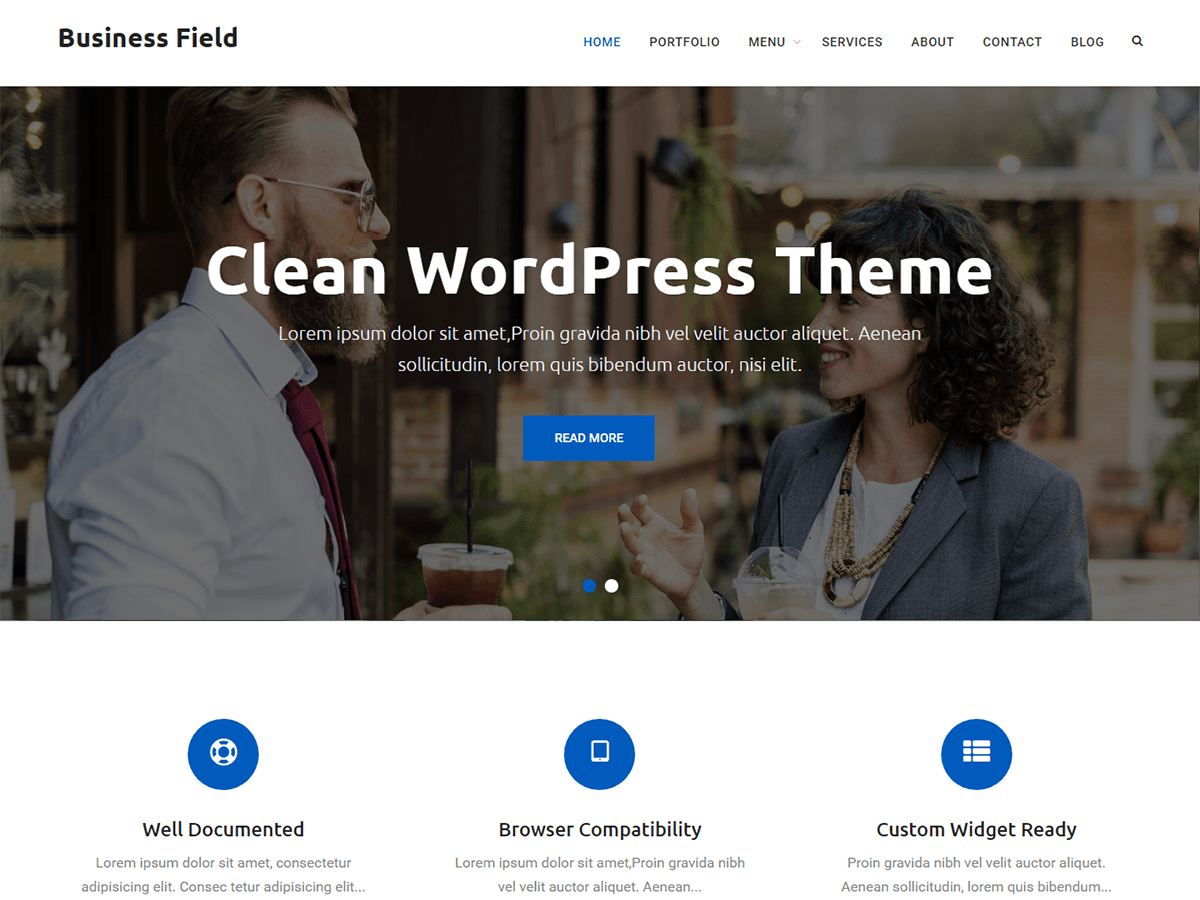 Business Field Preview Wordpress Theme - Rating, Reviews, Preview, Demo & Download