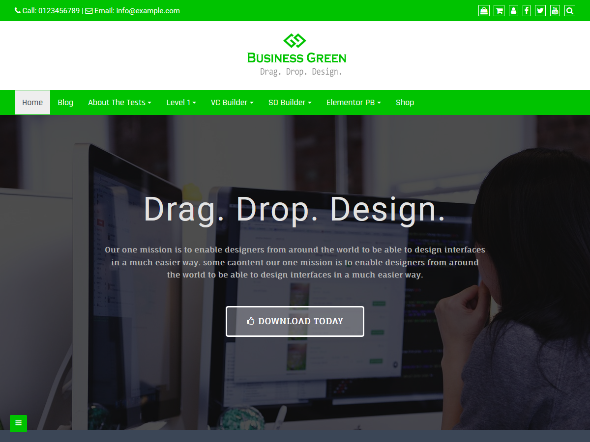 Business Green Preview Wordpress Theme - Rating, Reviews, Preview, Demo & Download