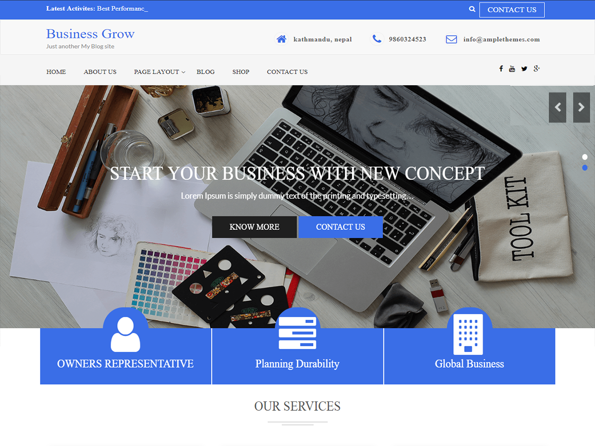 Business Grow Preview Wordpress Theme - Rating, Reviews, Preview, Demo & Download