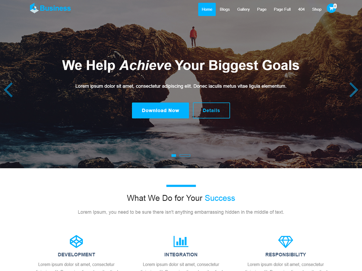 Business Idea Preview Wordpress Theme - Rating, Reviews, Preview, Demo & Download