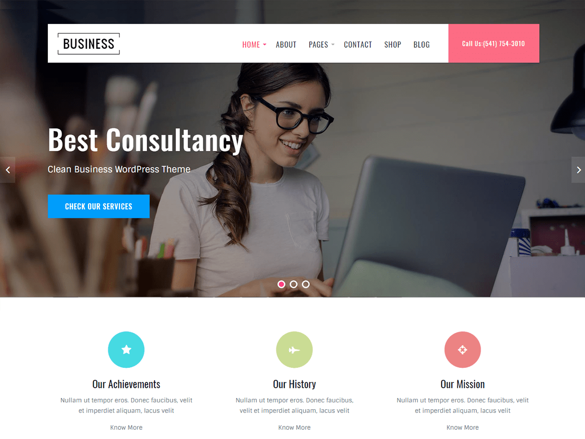Business Key Preview Wordpress Theme - Rating, Reviews, Preview, Demo & Download