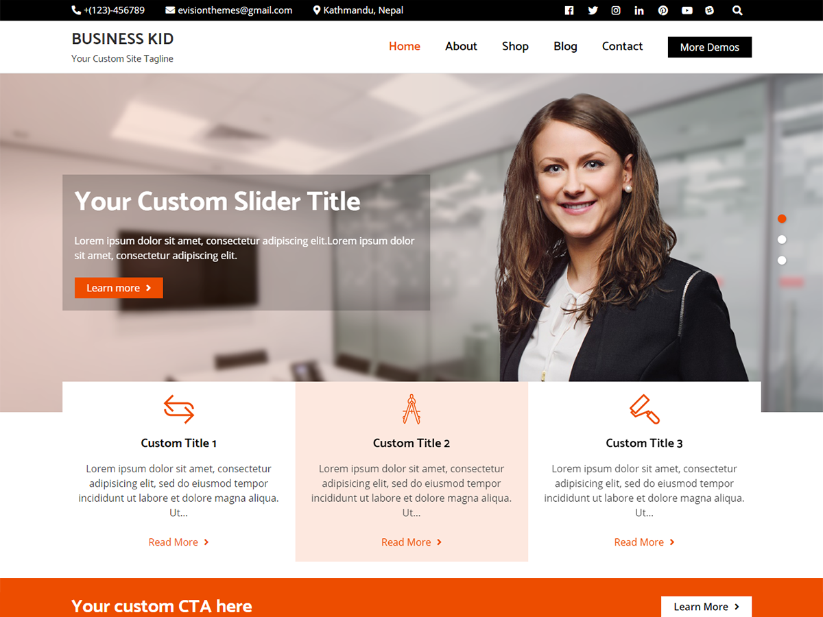 Business Kid Preview Wordpress Theme - Rating, Reviews, Preview, Demo & Download