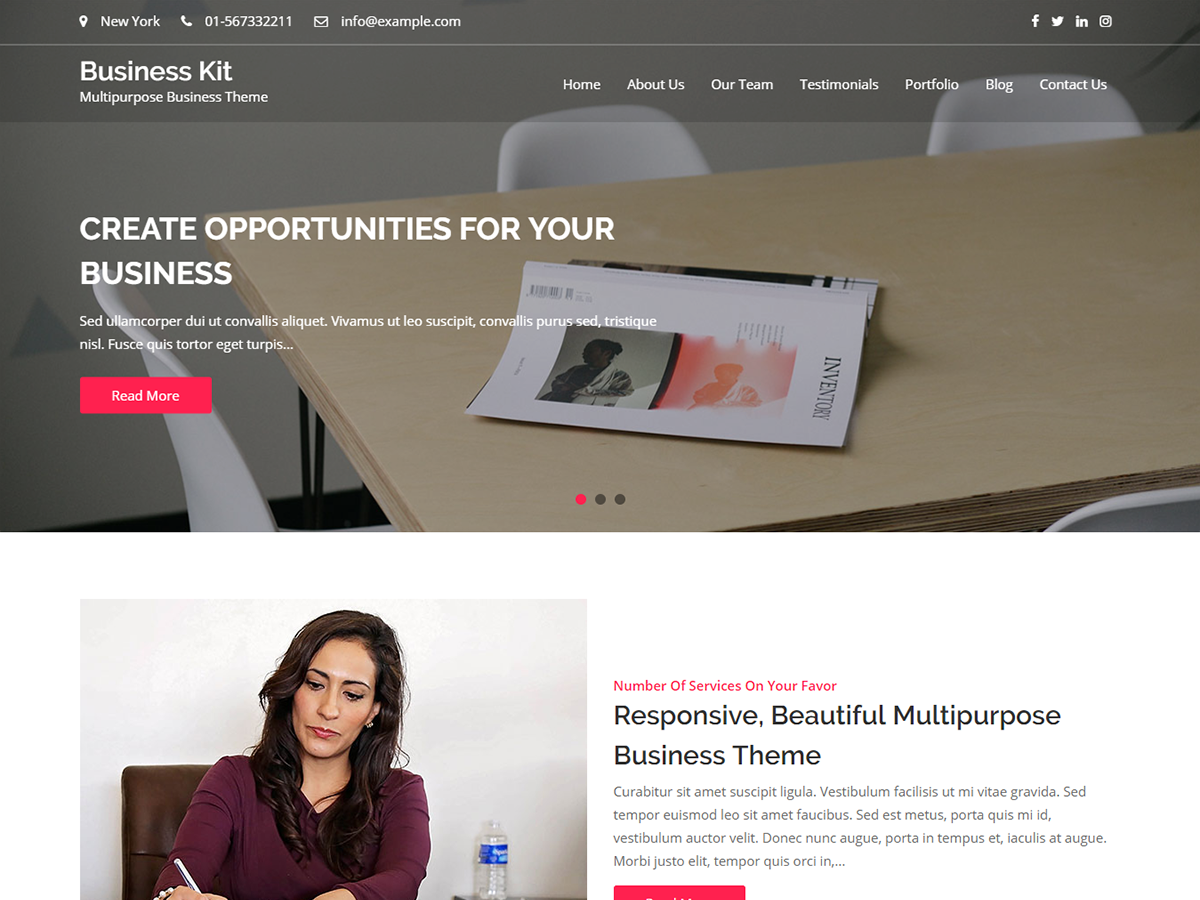 Business Kit Preview Wordpress Theme - Rating, Reviews, Preview, Demo & Download