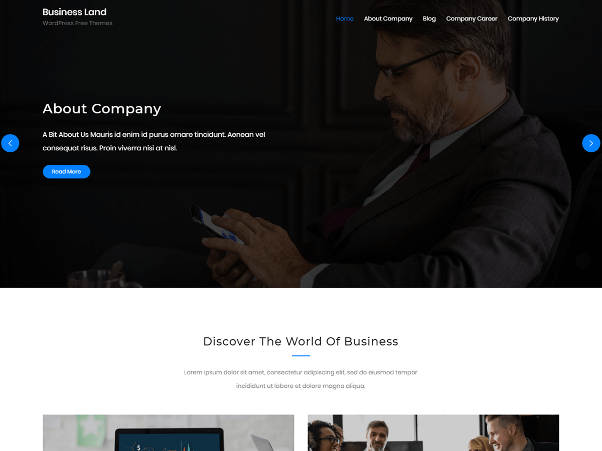 Business Land Preview Wordpress Theme - Rating, Reviews, Preview, Demo & Download