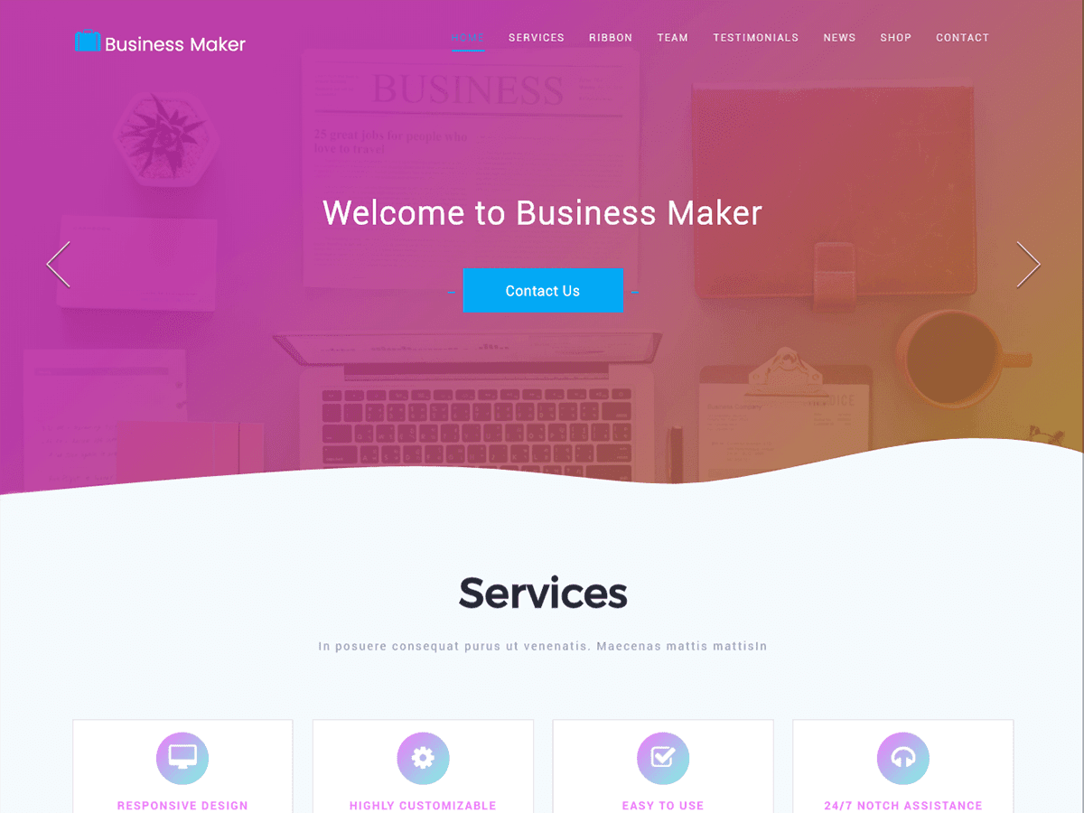 Business Maker Preview Wordpress Theme - Rating, Reviews, Preview, Demo & Download