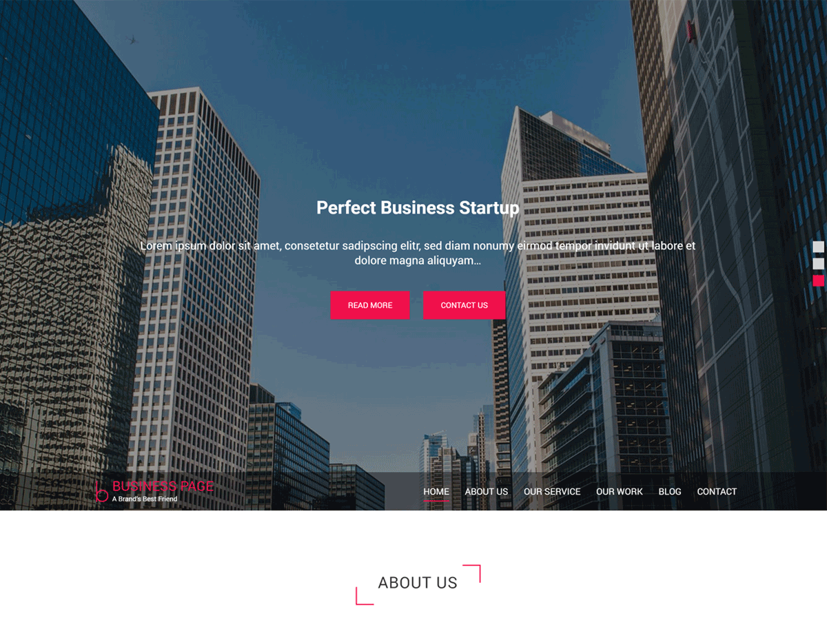 Business Page Preview Wordpress Theme - Rating, Reviews, Preview, Demo & Download