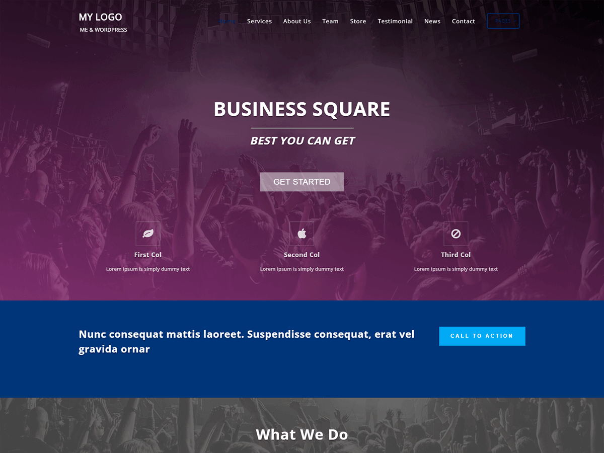 Business Square Preview Wordpress Theme - Rating, Reviews, Preview, Demo & Download