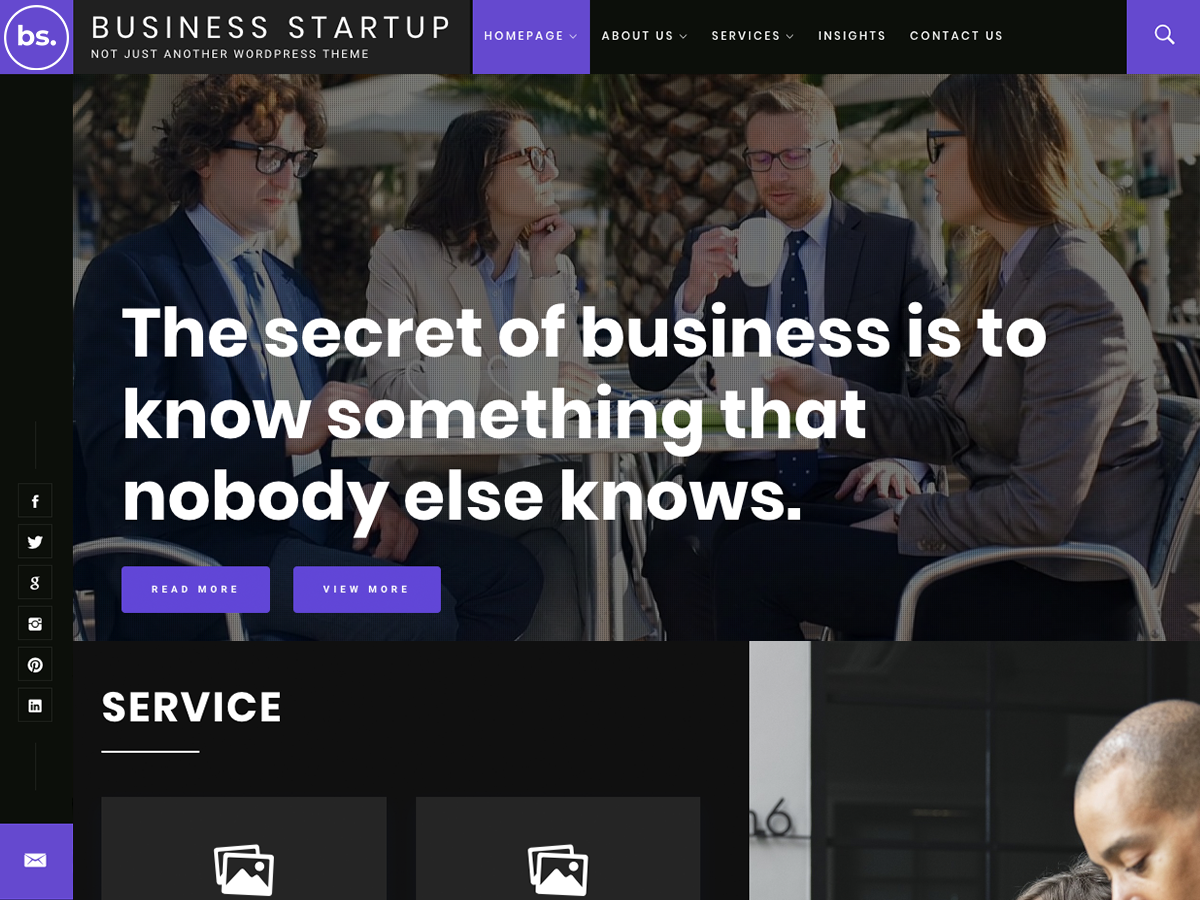 Business Startup Preview Wordpress Theme - Rating, Reviews, Preview, Demo & Download