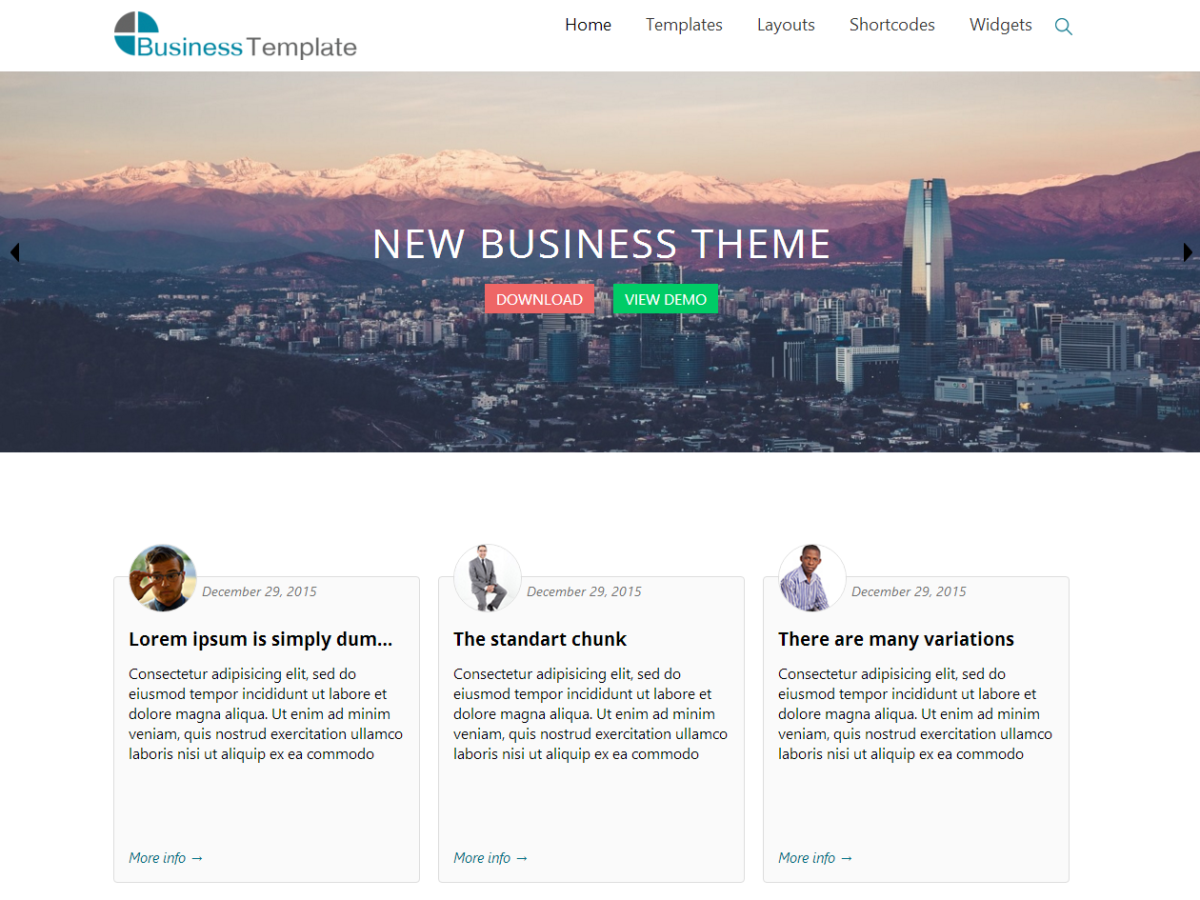 Business World Preview Wordpress Theme - Rating, Reviews, Preview, Demo & Download