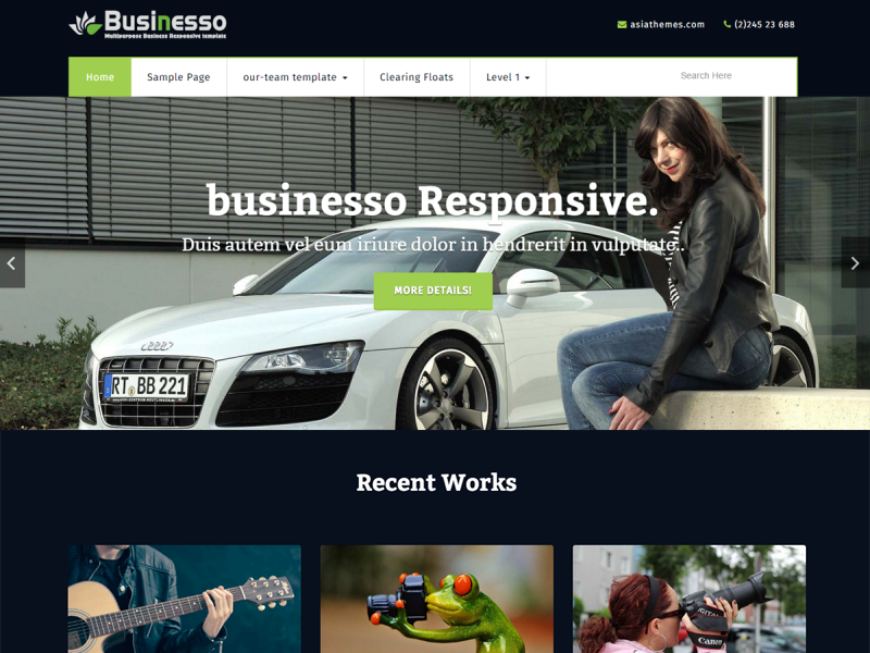 Businesso Dark Preview Wordpress Theme - Rating, Reviews, Preview, Demo & Download