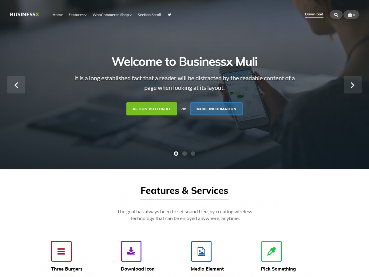 Businessx Muli Preview Wordpress Theme - Rating, Reviews, Preview, Demo & Download