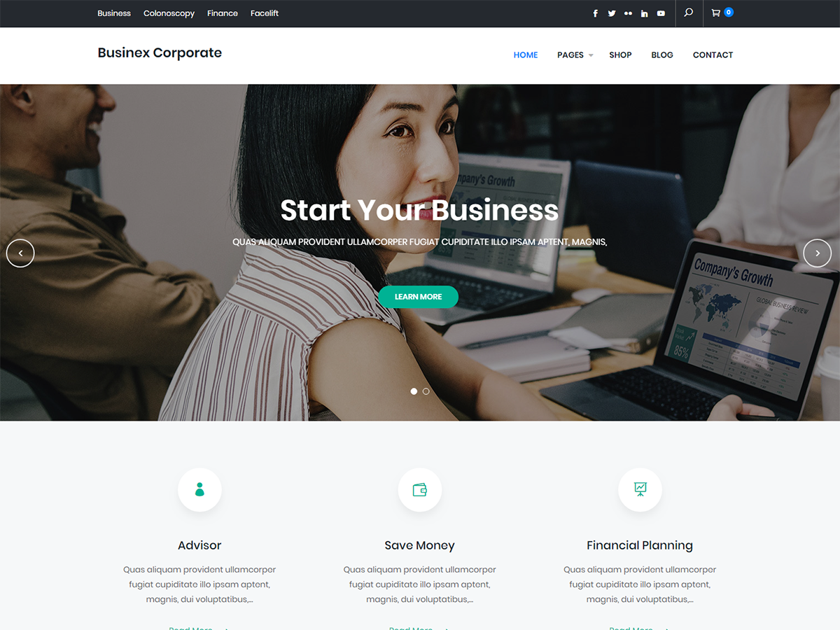Businex Corporate Preview Wordpress Theme - Rating, Reviews, Preview, Demo & Download