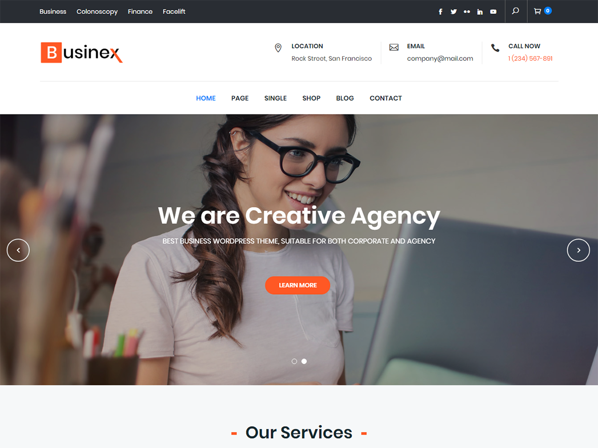 Businex Preview Wordpress Theme - Rating, Reviews, Preview, Demo & Download
