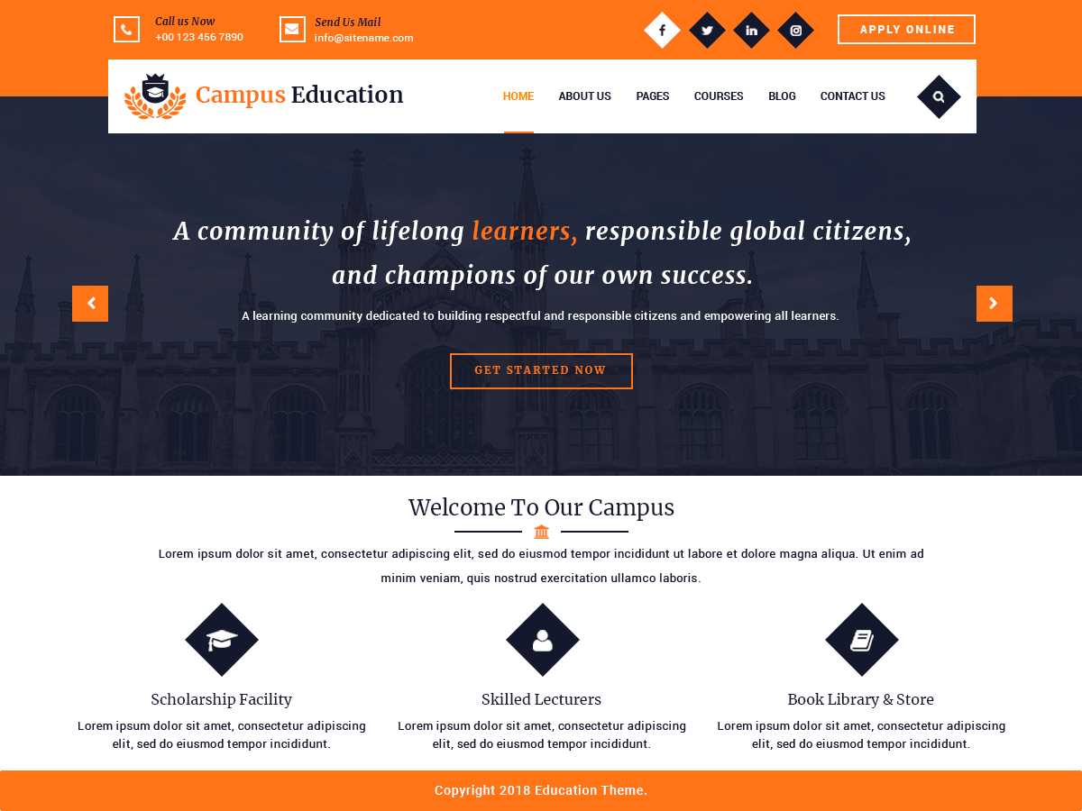 Campus Education Preview Wordpress Theme - Rating, Reviews, Preview, Demo & Download