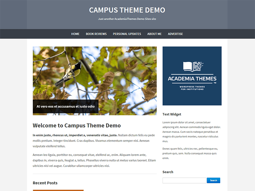 Campus Preview Wordpress Theme - Rating, Reviews, Preview, Demo & Download