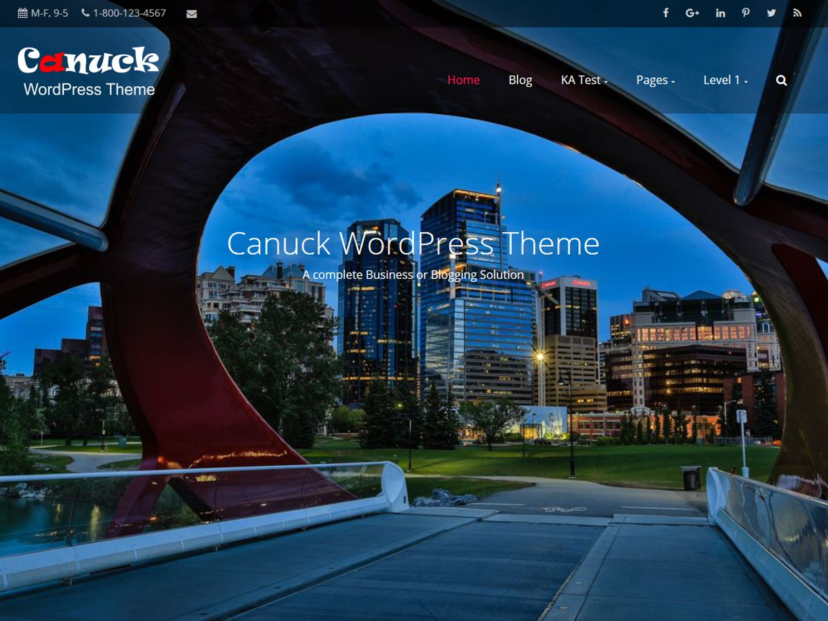 Canuck Preview Wordpress Theme - Rating, Reviews, Preview, Demo & Download